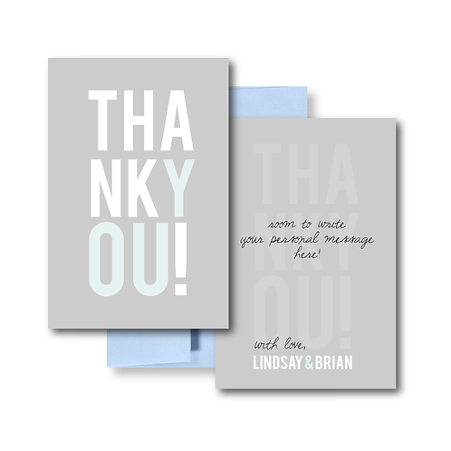 Poster Perfect Flat Thank You Note Card + Envelope