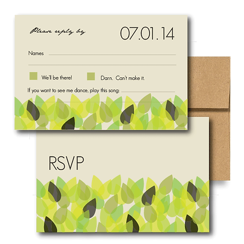 New Leaf RSVP + Envelope