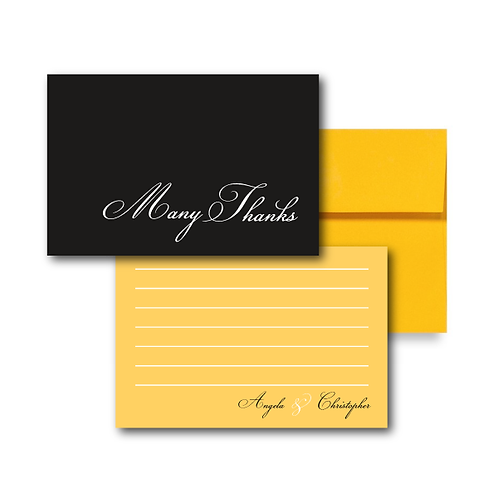 Much Ado About Something Flat Thank You Note Card + Envelope