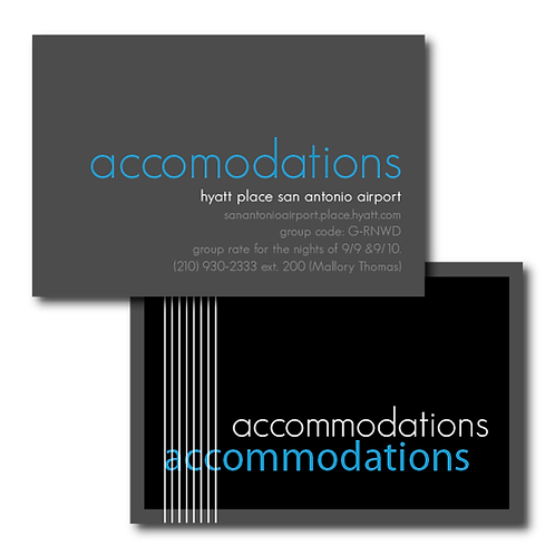 Black Tie Accommodations / Info Card