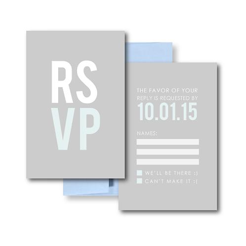 Poster Perfect RSVP + Envelope