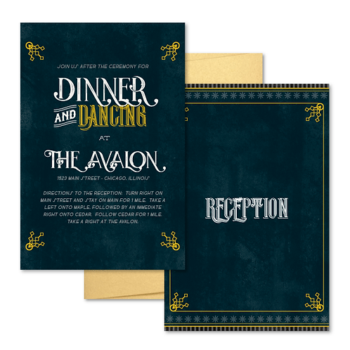 Avalon Reception / Ceremony Card