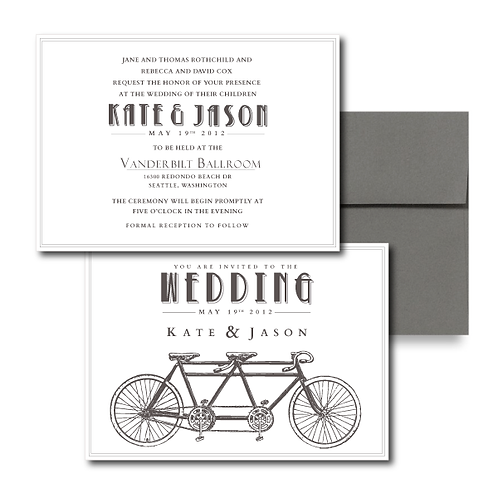 Love is a Two Seater Standard Invitation + Envelope