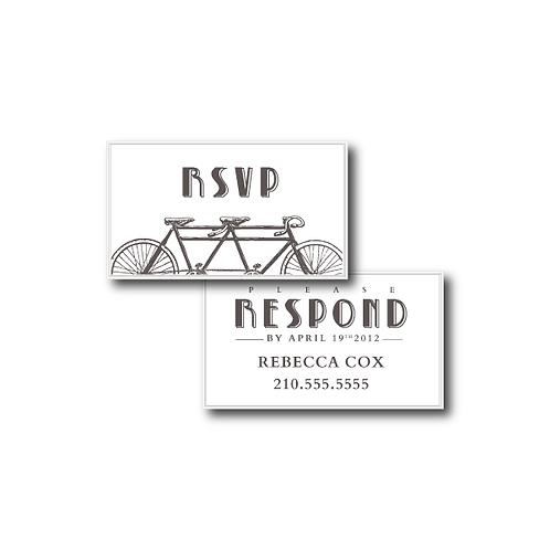 Love is a Two Seater Phone/Email RSVP Insert Card