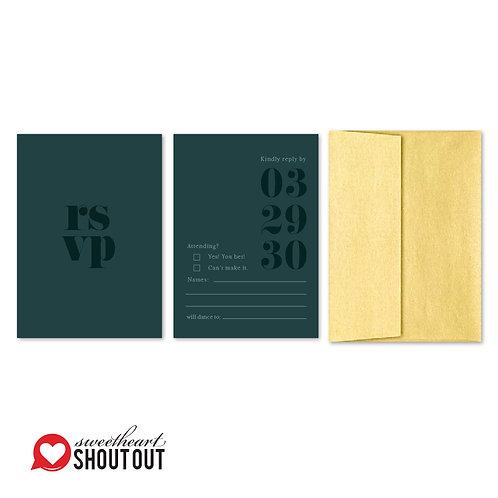 Clean Getaway RSVP + Envelope