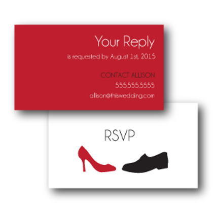 Two to Tango Phone/Email RSVP Insert Card