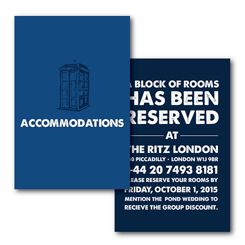 Dr. Who Accommodations / Info Card