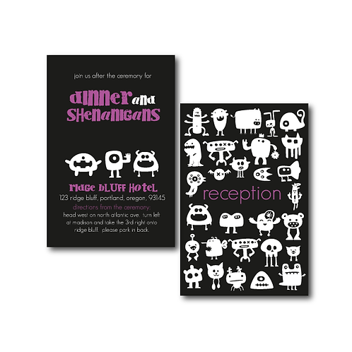 Out of This World Reception / Ceremony Card