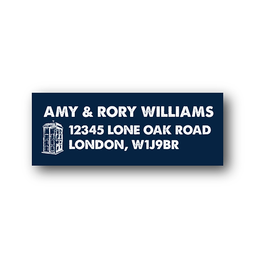 Dr. Who Return Address Labels