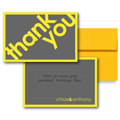 So Fresh and So Clean Flat Thank You Note Card + Envelope