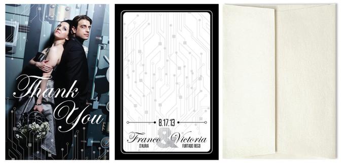 Elegant Tron Thank You Card