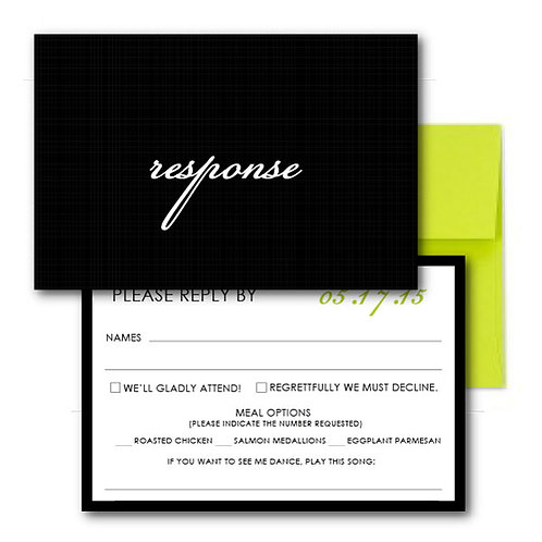 Flourish of the Pen RSVP + Envelope