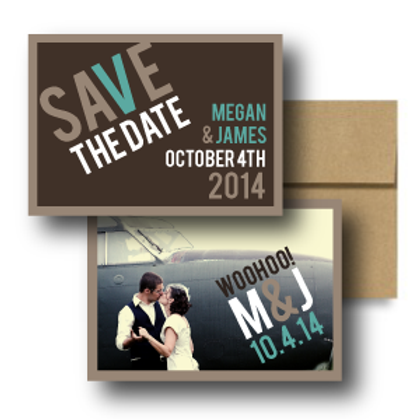 Up, Up, and Away Save the Date + Envelope
