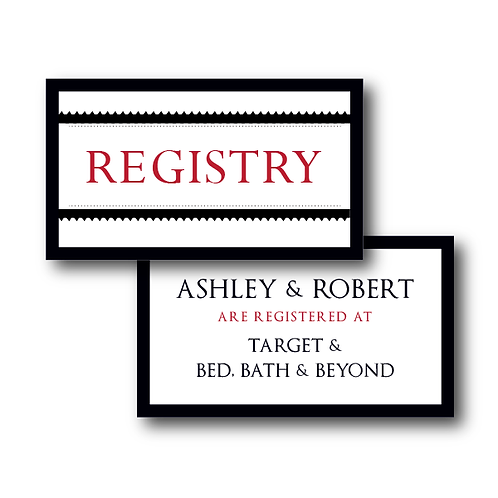 Our Love Story Registry Card