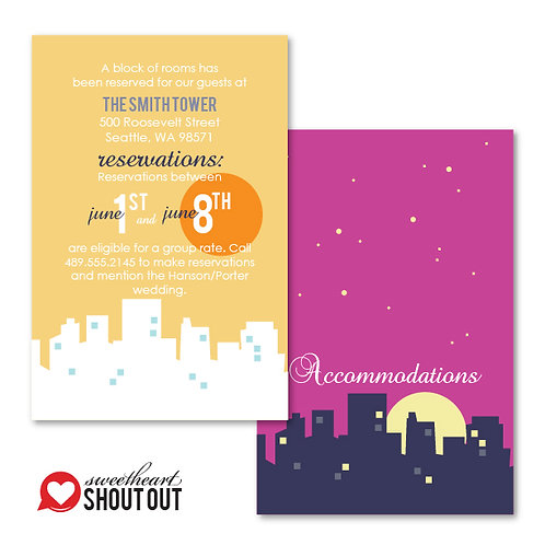 Night and Day Accommodations / Info Card