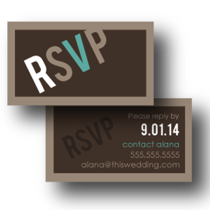 Up, Up, and Away Phone/Email RSVP Insert Card