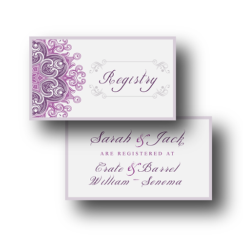 Lovely Lace Registry Card