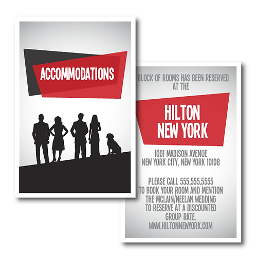 Mad Men Accommodations / Info Card