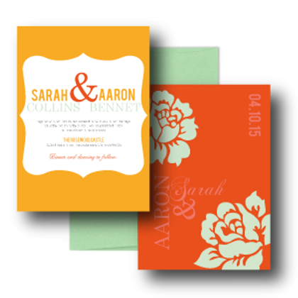 Paint the Roses Standard Invitation + Envelope