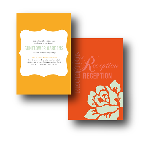 Paint the Roses Reception / Ceremony Card