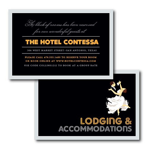 The Gatsby Accommodations / Info Card