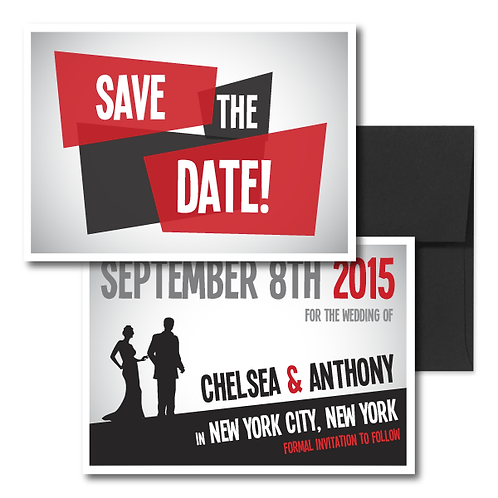 Mad Men Save the Date + Envelope