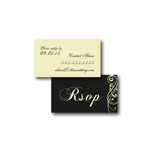 Love Orchestrated Phone/Email RSVP Insert Card