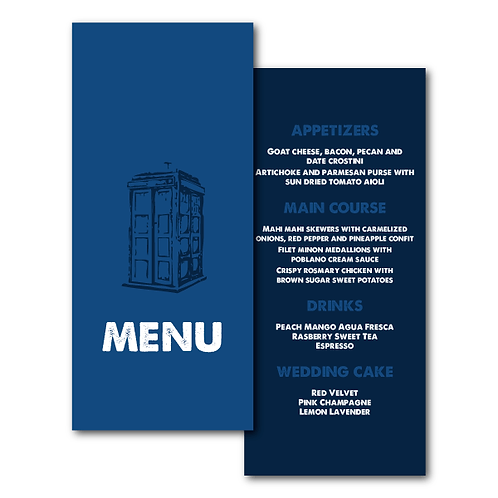 Dr. Who Menu