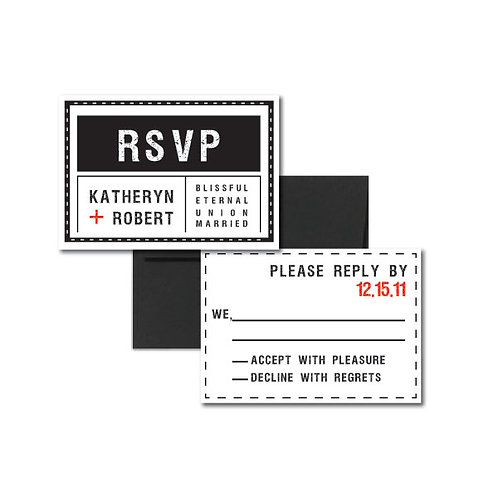Tag, You're it! RSVP + Envelope