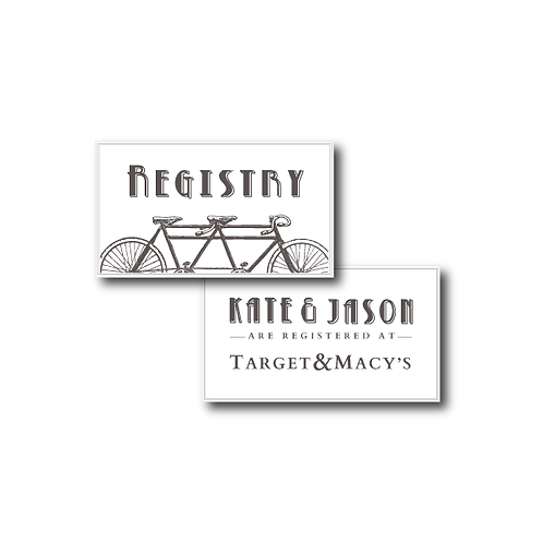 Love is a Two Seater Registry Card