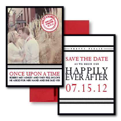 Our Love Story Save the Date + Envelope