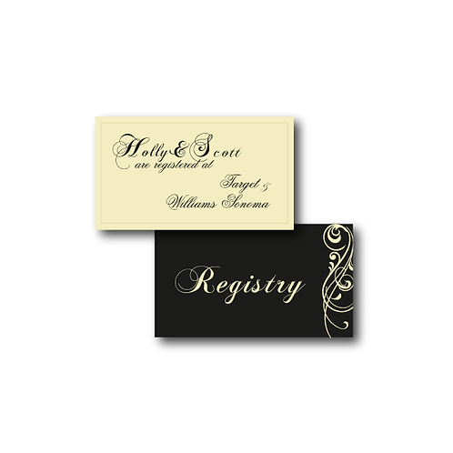 Love Orchestrated Registry Card