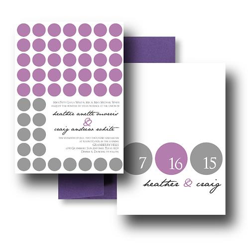 Hot Dots Standard Invitation + Envelope