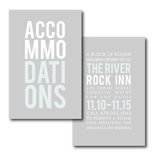 Poster Perfect Accommodations / Info Card