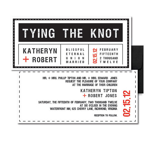 Tag, You're it! Standard Invitation + Envelope