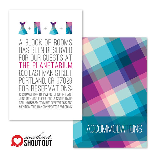 Rad in Plaid Accommodations / Info Card