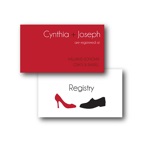 Two to Tango Registry Card