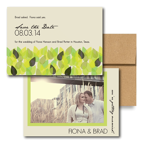 New Leaf Save the Date + Envelope