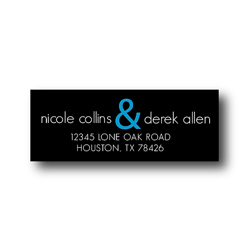 Black Tie Return Address Labels