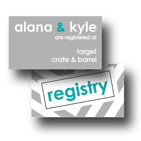 City Stripe Registry Card