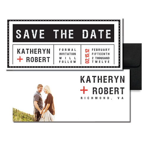 Tag, You're it! Save the Date + Envelope