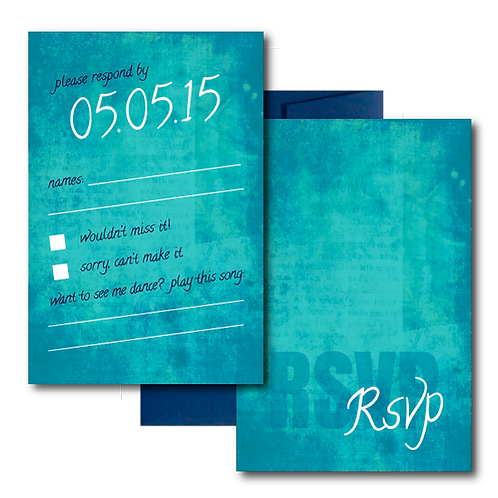 Colorful Canvas RSVP + Envelope