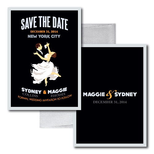 The Gatsby Save the Date + Envelope
