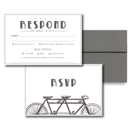 Love is a Two Seater RSVP + Envelope