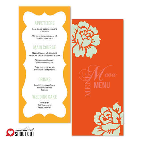 Paint the Roses Menu