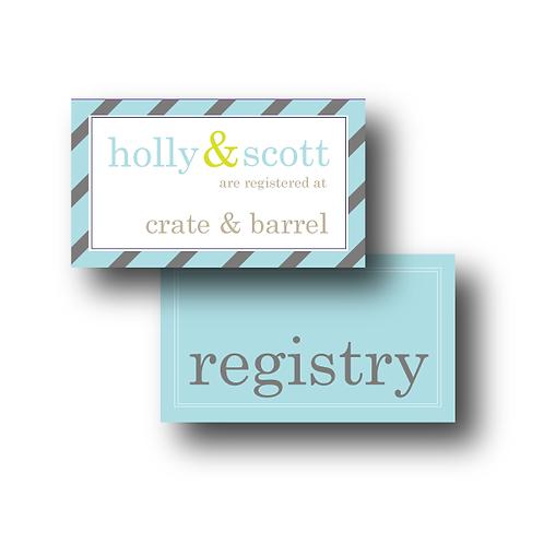 Pleasingly Preppy Registry Card