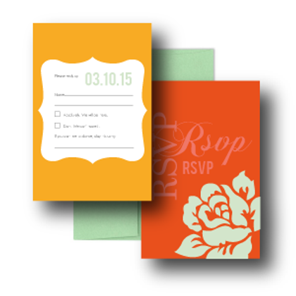 Paint the Roses RSVP + Envelope