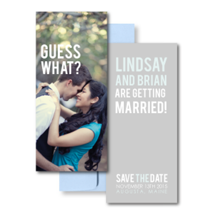 Poster Perfect Save the Date + Envelope
