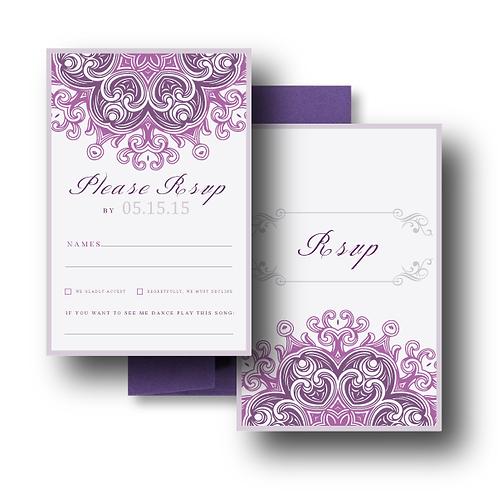 Lovely Lace RSVP + Envelope