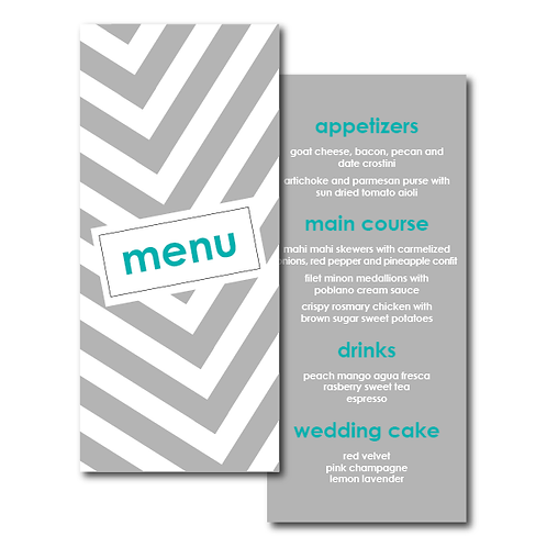 City Stripe Menu
